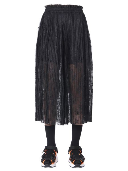 Mm6 Maison Margiela - Trouser Skirt In Pleated Lace