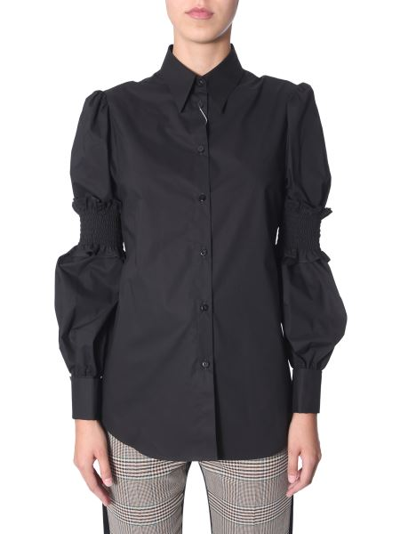 Mm6 Maison Margiela - Cotton Shirt With Removable Elastic