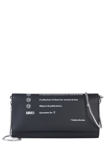 Mm6 Maison Margiela - Mini Bag With Shoulder Strap And Logo Print