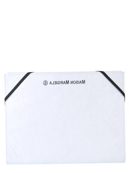 Mm6 Maison Margiela - Paper Effect Pouch With Logo