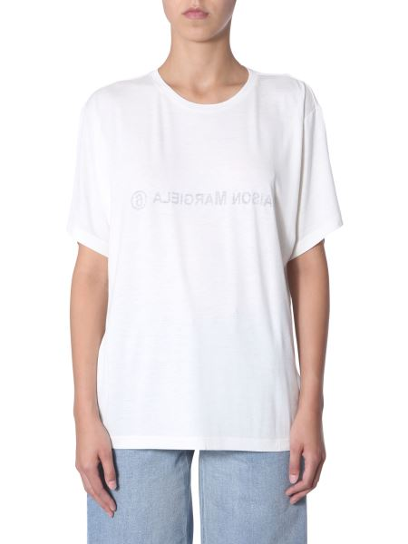 Mm6 Maison Margiela - T-shirt Con Stampa