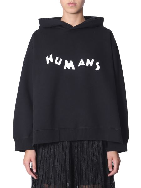 Mm6 Maison Margiela - Humans Hooded Sweatshirt With Side Clips