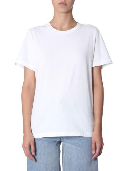 Mm6 Maison Margiela - Round Neck T-shirt With Back Logo