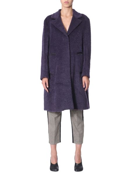 Mm6 Maison Margiela - Mohair Coat With Outline Pockets