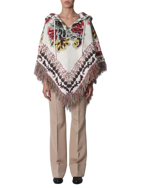 Etro - Jacquard And Hooded Poncho