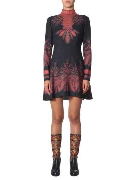 """Etro - """"lindsey"""" Wool And Silk Dress With Paisley Print"""