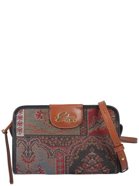 Etro - Paisley Shoulder Bag With Leather Details