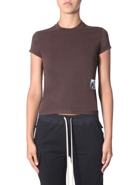Rick Owens Drkshdw - Round Neck Cotton Jersey T-shirt