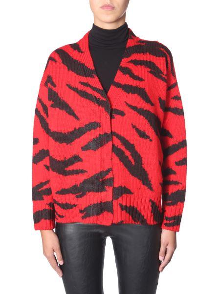 Philosophy Di Lorenzo Serafini - Tiger Pattern Wool Cardigan