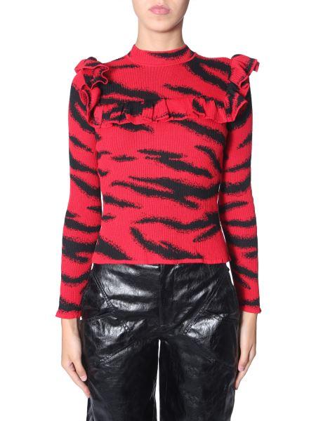 Philosophy Di Lorenzo Serafini - Tiger Printed Wool Knit Sweater