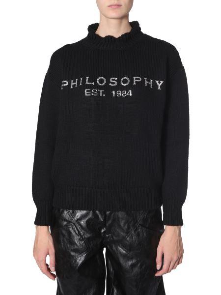 Philosophy Di Lorenzo Serafini - Wool Sweater With Strass Logo