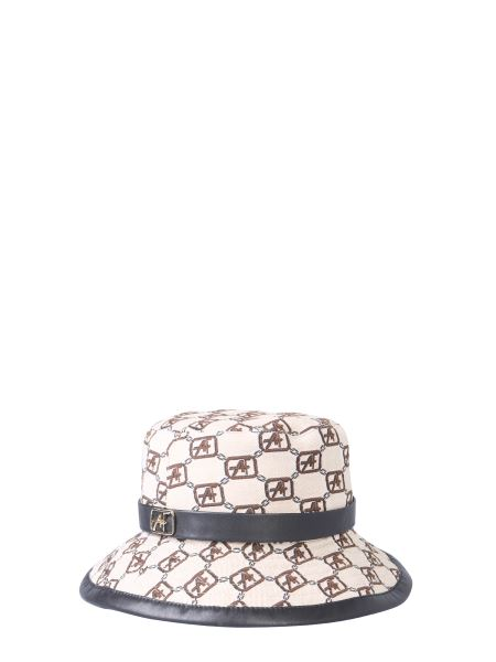 Alberta Ferretti - Cotton Canvas Cap With Logo Print