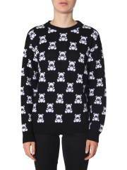 MOSCHINO - PULLOVER JACQUARD TEDDY BEAR