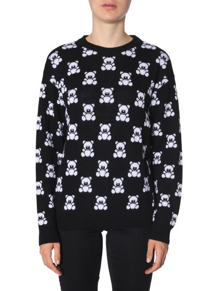 Moschino - Teddy Bear Jacquard Woolen Pullover