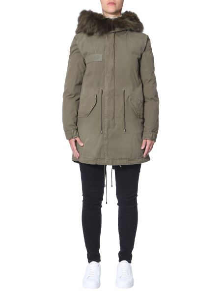 """Mr & Mrs Italy - """"jazzy"""" Midi Parka With Fur Rimmed Hood"""