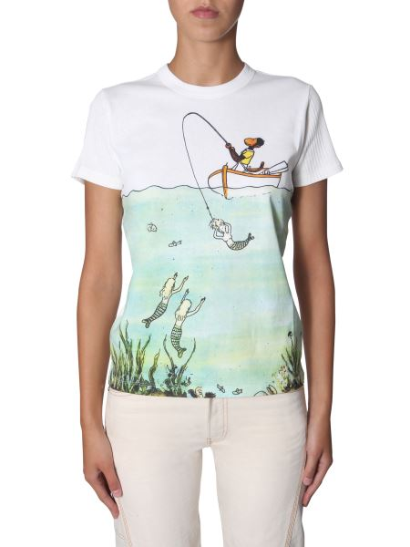Lanvin - Printed Round Neck Cotton T-shirt