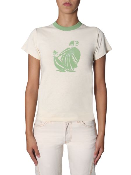 Lanvin - Cotton Round Neck T-shirt With Logo Print
