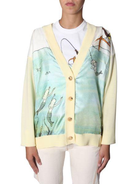 Lanvin - Printed Wool And Silk Cardigan