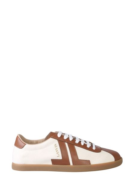 Lanvin - Canvas And Soft Leather Low Sneakers