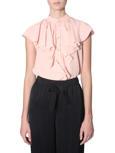 Boutique Moschino - Silk Frill Shirt