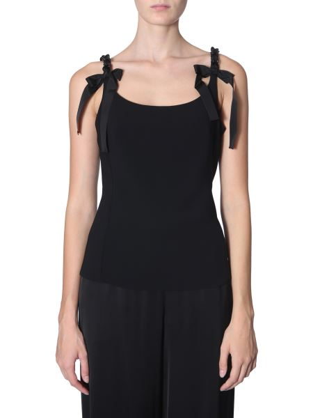 Boutique Moschino - Top In Crêpe With Chain Detail