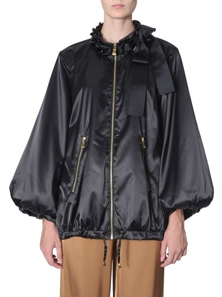 Boutique Moschino - Oversize Fit Jacket With Chain And Bow