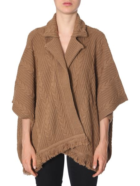 Boutique Moschino - Oversize Fit Wool Cardigan With Fringes
