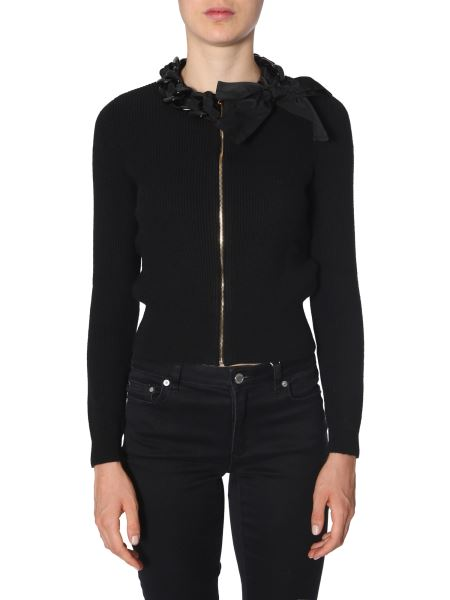 Boutique Moschino - Wool Sweater With Zip And Chain