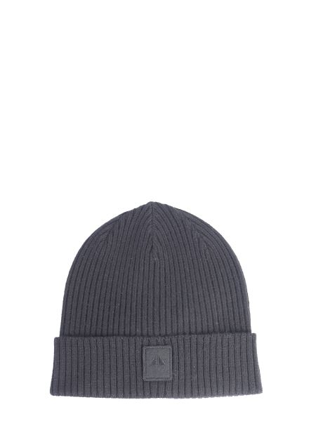 Moose Knuckles - Knitted Hat With Patch Logo