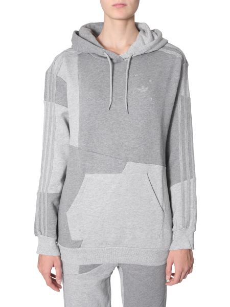 Adidas Originals By Danielle Cathari - Sweatshirt With Cotton Hood With Asymmetrical Patches