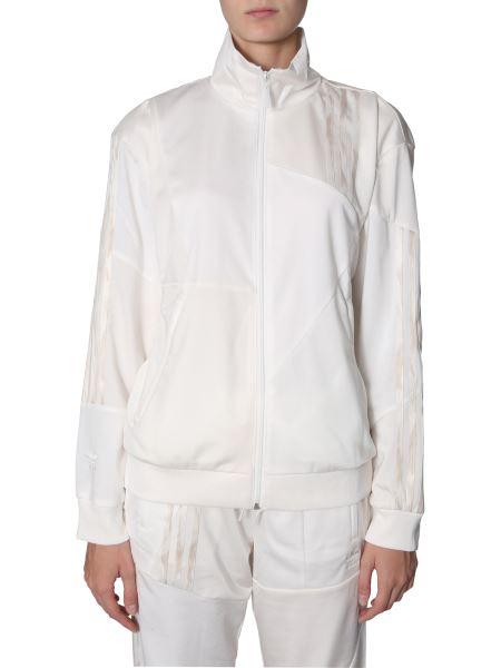 Adidas Originals By Danielle Cathari - Cotton Zip Sweatshirt With Three Destructured Stripes