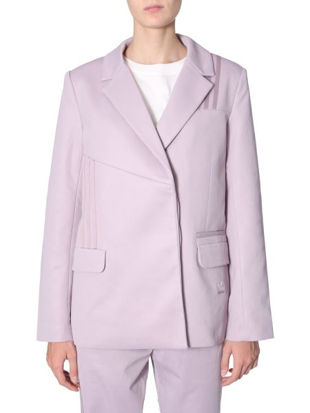 Adidas Originals By Danielle Cathari - Long Cotton Blazer With Asymmetrical Patches