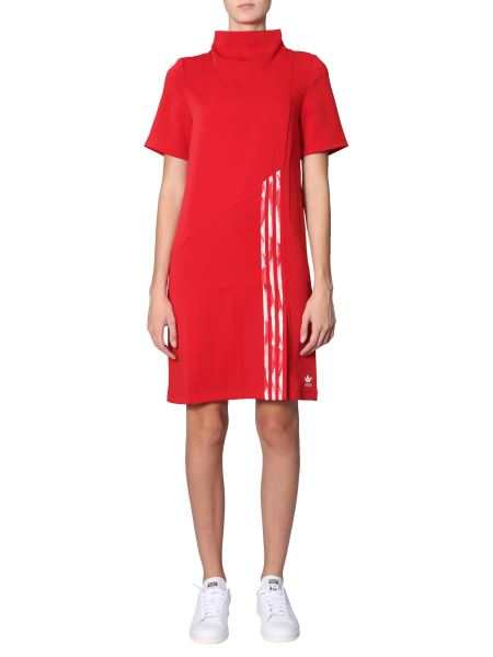 Adidas Originals By Danielle Cathari - High Neck Dress With Asymmetrical Patch