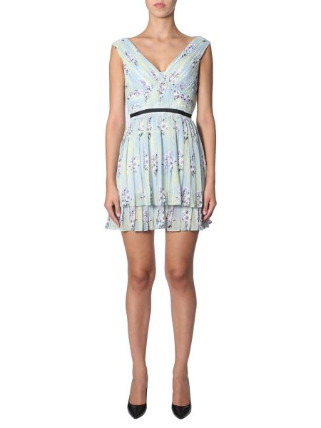 Self-portrait - Pleated Dress With Floral Fantasy