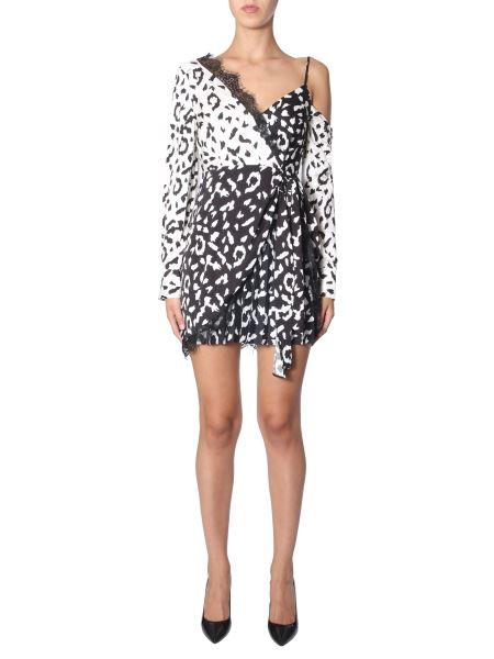 Self-portrait - Single-sleeve Leopard Print Dress