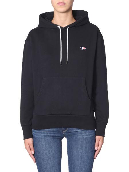 Maison Kitsuné - Hooded Sweatshirt With Tricolor Fox Patch