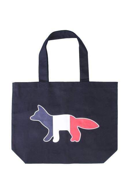 Maison Kitsuné - Tricolor Fox Cotton Shopping Bag