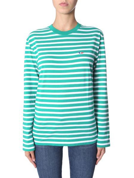 Maison Kitsuné - Marin Tricolor Fox Patch Cotton T-shirt