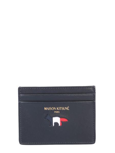 Maison Kitsuné -  tricolor Leather Card Holder