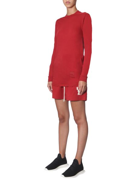Rick Owens Drkshdw Long Sleeved T-Shirt In Red