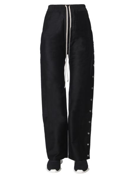 Rick Owens Drkshdw - Wide Cotton Pants With Button Band