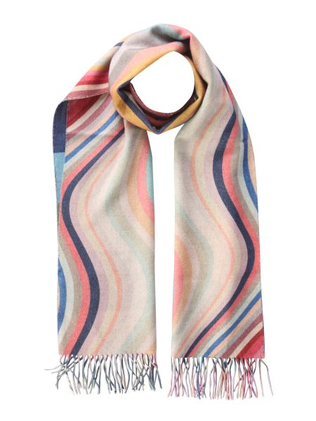 Paul Smith - Swirl Striped Wool And Cashmere Scarf