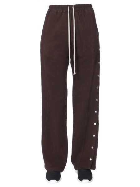 Rick Owens Drkshdw - Large Cotton Pants With Button Band