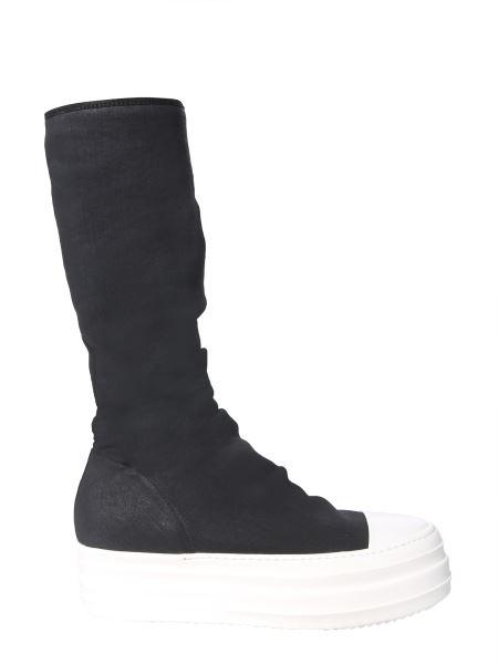 Rick Owens Drkshdw - Double Bumper Sock Sneaker In Synthetic Knit