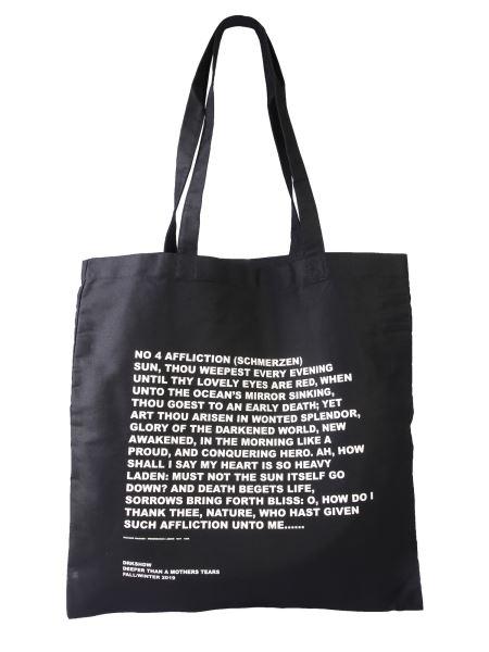 Rick Owens Drkshdw - Large Signature Cotton Tote Bag