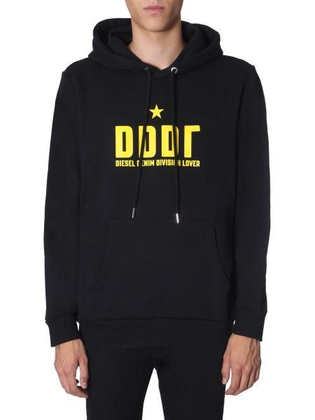 """Diesel - """"s-gir"""" Hooded Sweatshirt With Logo"""