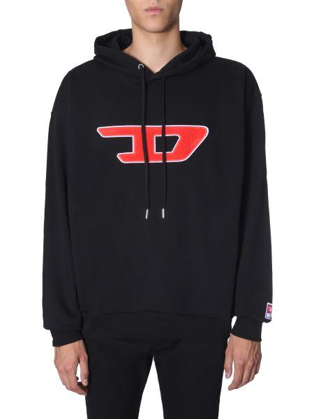 """Diesel - """"s-division-d"""" Hooded Sweatshirt With Sponge Logo"""