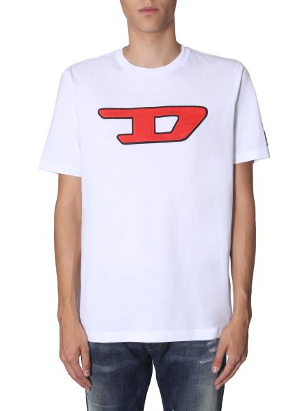 "Diesel - ""t-just-division-d"" Cotton T-shirt With Logo"