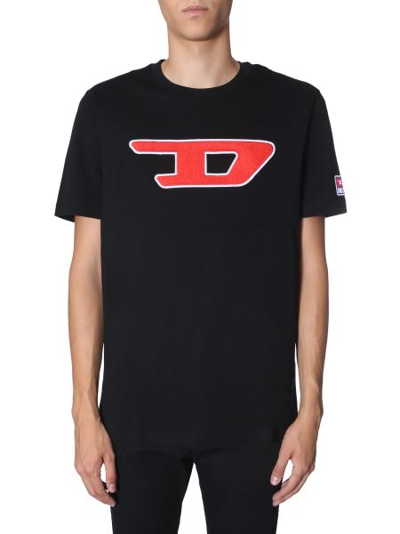 """Diesel - """"t-just-division-d"""" Cotton T-shirt With Logo"""