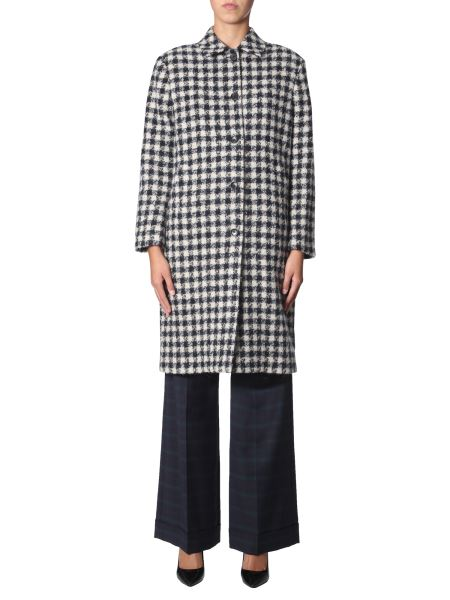 Ps By Paul Smith - Wool Coat With Square Pattern